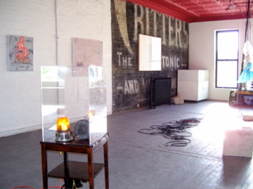 "Installation view of ""Useless Weapon"" at The Green Lantern Gallery 2008"