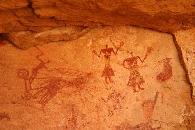 Caveman Rock Art : March the green lantern press page