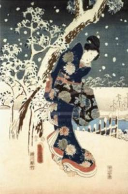 Ando-Hiroshige-Snow-Scene-in-the-Garden-of-a-Daimyo-134229